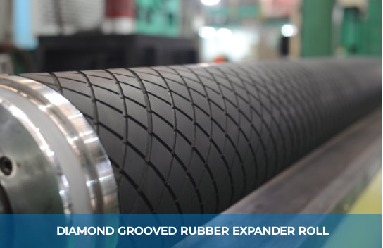 DIAMOND GROOVED RUBBER EXPANDER ROLL