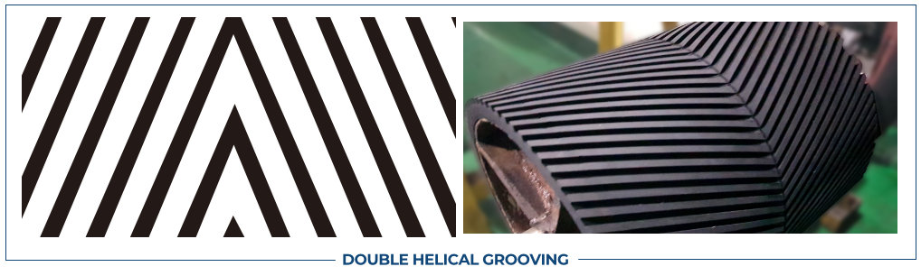 DOUBLE HELICAL GROOVING